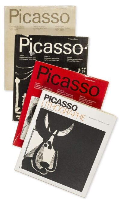 Pablo Picasso, 'Catalogue of the Printed Graphic Work I,II,IV & Picasso Lithographe'