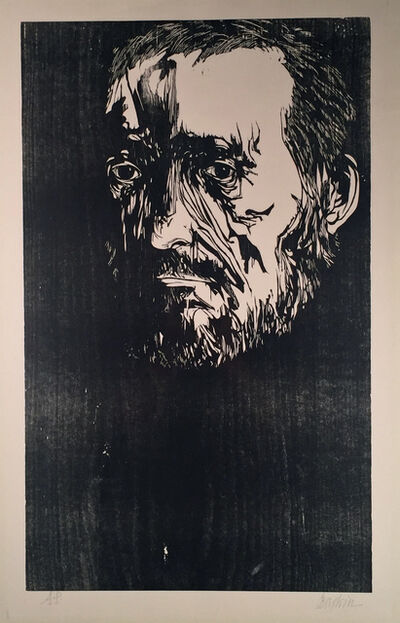 Leonard Baskin, 'PORTRAIT OF THOMAS EAKINS', 1962