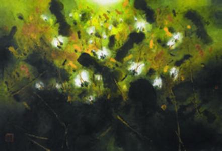 Chuntao Lu, 'Lotus Pond 2015 No.081', 2015