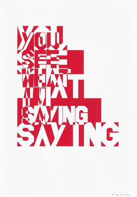 Rose Nolan, 'You See What I'm Saying (twice over print version)', 2012