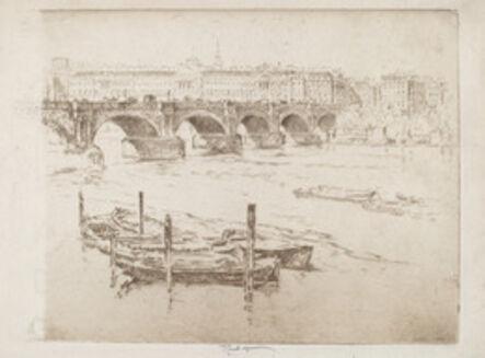 Joseph Pennell, 'Waterloo Bridge and Somerset House', 1905