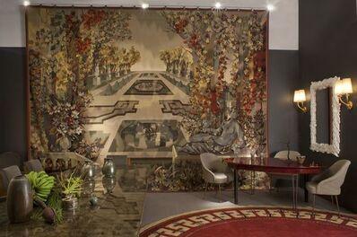"""Maison Leleu, '""""Jardin à la Française"""" A monumental Aubusson Tapestry Designed by Camille Hilaire (1916-2004) and executed by  Atelier Pinton Frères, Aubusson', 1957"""