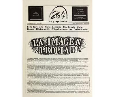 Elda Cerrato, 'La imagen apropiada. Perla Benveniste, Carlo Boccardo, Elda Cerrato, Carlos Filomía, Héctor Médici, Miguel Melcon, Juan Carlos Romero ', 1986
