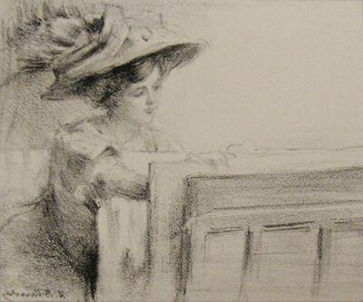 Albert Belleroche, 'Woman Looking at Prints', 1900