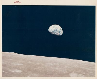 William Anders, 'Earthrise, the first ever witnessed by human eyes, Apollo 8, December 1968'