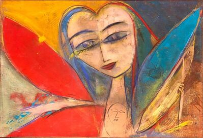 Jamali, 'Untitled - Woman with Red, Blue and Golden Wings', 2018