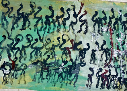 Purvis Young, 'The Dance on the Green', ca. 1990