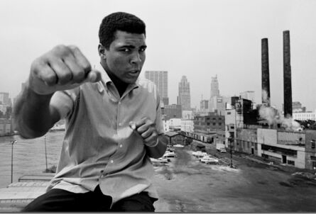 Thomas Hoepker, 'Muhammad Ali showing off his right fist over Chicago's skyline', 1966