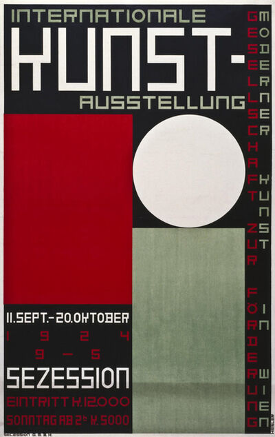 Frederick John Kiesler, 'International Art Exhibition. Society for the Promotion of Modern Art in Vienna, Secession, Vienna, 11 September – 20 October 1924'