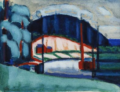 Oscar Bluemner, 'So. River, N.J.', 1916