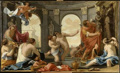 Eustache Le Sueur, 'Poliphile au bain avec les nymphes (Poliphilus bathing with the nymphs)'