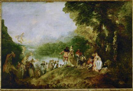 Jean-Antoine Watteau, 'Pélerinage à l'île de Cythère (Pilgrimage to Cythera)', 1717