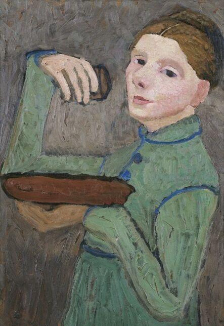 Paula Modersohn-Becker, 'Selbstbildnis, eine Schale und ein Glas haltend (Self-Portrait with a Bowl and a Glass)', c. 1904