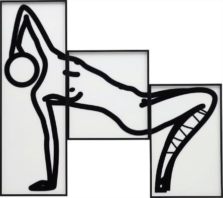 Julian Opie, 'This is Shahnoza in 3 parts 08 (2008) (signed)', 2008