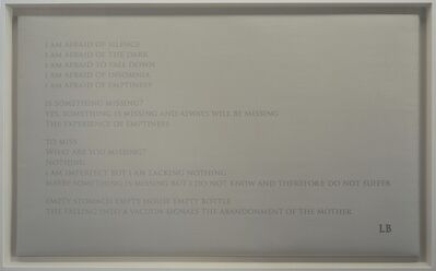Louise Bourgeois, 'I am Afraid', 2009