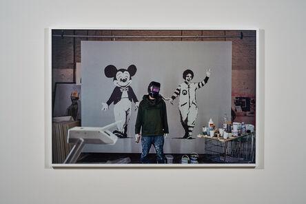 James Pfaff, 'Banksy, Welder's Mask Session, London, 2004 (Medium)', [2004/2021]