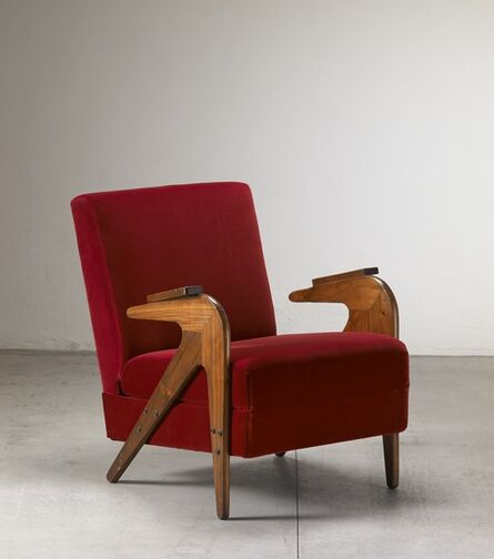 "Lina Bo Bardi, '""Tridente"" reclining armchair', ca. 1949"
