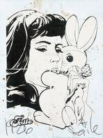 FAILE, 'Bunny Girl (Blue)', 2006