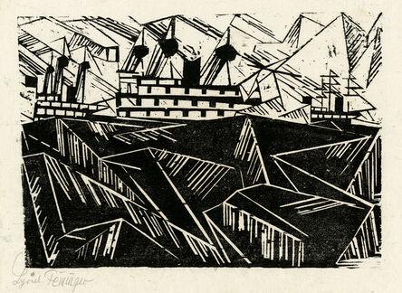 Lyonel Feininger, 'Warfleet, 1 (Kriegsflotte, 1) ', ca. 1919