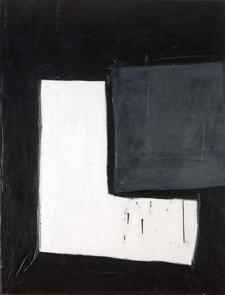 John Blackburn, 'White L on Black Ground with Grey Rectangle', 1964