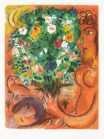 Marc Chagall, 'Femme au Bouquet (Woman with Bouquet) from Nice and the Côte d'Azur', 1967