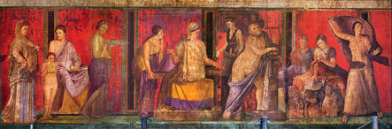'Fresco from the Sala di Grande Dipinto, Scenes in the Villa de Misteri, Pompeii', ca. 60-50 B.C.
