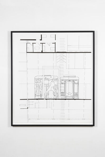 Monica Bonvicini, 'Places of ID (Three People at the...)', 2002