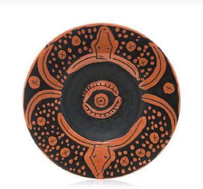 Pablo Picasso, 'Madoura Ceramic Plate -  Plat espagnol au toros, Ramié 403', 1960-1969
