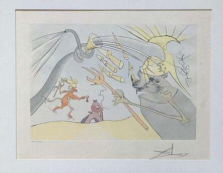 Salvador Dalí, 'l' Elephant et le Singe de Jupiter', 1974
