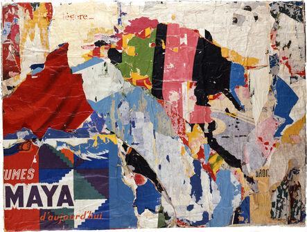Jacques Villeglé, '<<Les Mayas partout>>', septembre 1961