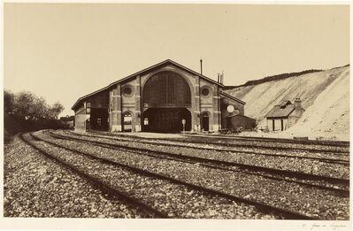 Édouard Baldus, 'Gare de Longueau', 1855