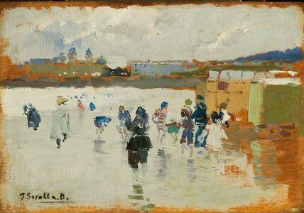 Joaquín Sorolla y Bastida, 'La Concha Beach, San Sebastián', 1906