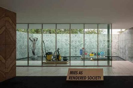 Andres Jaque, 'Phantom. Mies As Rendered Society. Cleaning.', 2012