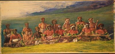 John La Farge, 'Chiefs and Performers in War Dance, Fiji', 1891