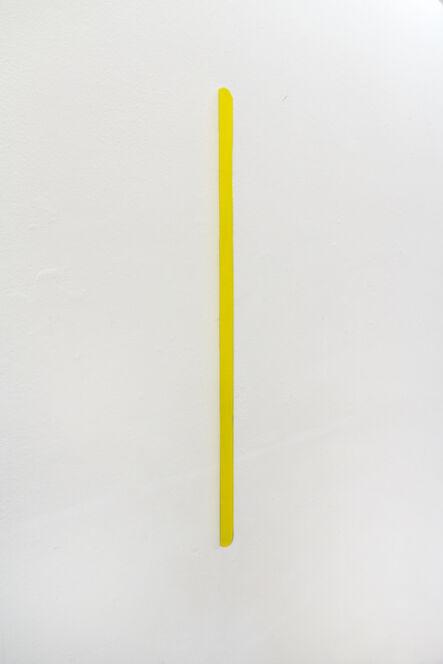 Sebastian Dannenberg, 'yellow lightning', 2017