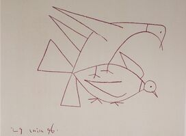 Pablo Picasso, 'Les Deux Tourterelles (Two Turtle Doves), 1949 Limited edition Lithograph by Pablo Picasso', 1949