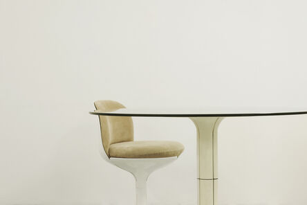 Pierre Paulin (1927-2009), 'Chair & Table', Chair: 1972-Table: 1968