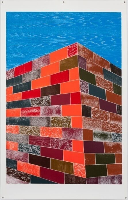 Thomas Schütte, 'Woodcuts (Brick Wall)', 2011