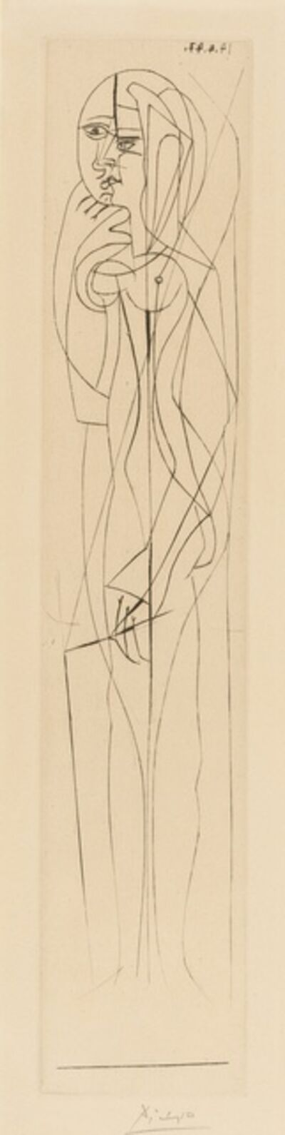 Pablo Picasso, 'Nu de Profil: Garde Gauche (Baer 784Ba; Bloch 463; Cramer Books 48)', 1947