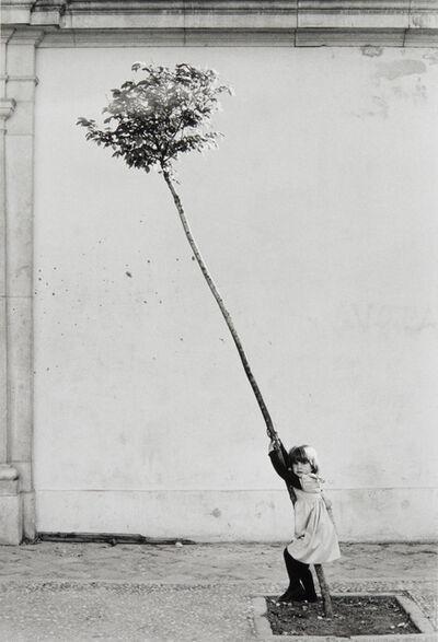 Sabine Weiss, 'Petite fille, petite arbre, Espagne', 1981
