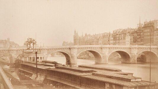 Bisson Frères, 'View of Le Pont Neuf and Île de la Cité from Le Quai du Louvre', 1850s