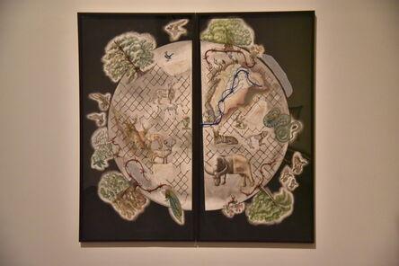 Reena Saini Kallat, 'Earth Citizens (diptych), 2017-18', 2017-2018