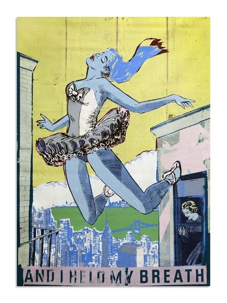 FAILE, 'Held : study in blue', 2013