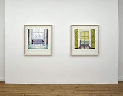 """David Hockney, '""""Two vases in the Louvre"""" AND """"Contrejour in the French Style""""', 1974"""