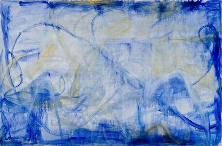 Zhang Enli 张恩利, 'Irregular Blue Lines', 2016