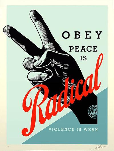 Shepard Fairey, 'Radical Peace - Blue Edition', 2021