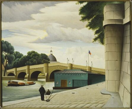 Arnold Wiltz, 'Along the Seine', 1928