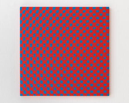 François Morellet, '3 trames de carrés réguliers pivotées sur le côté', 1970