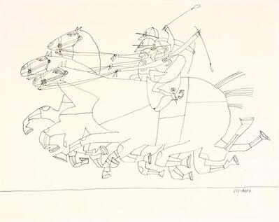 Saul Steinberg, 'Racing'