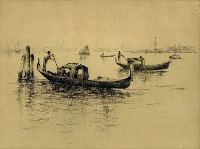 Sydney M. Litten, '[Venetian Scene, Gondolas]'